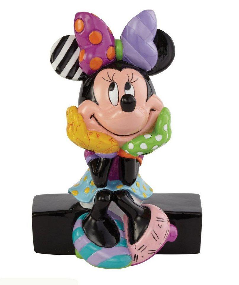 Disney by Britto Figur PopArt sitzend auf Sockel, »Minnie Mouse« in bunt