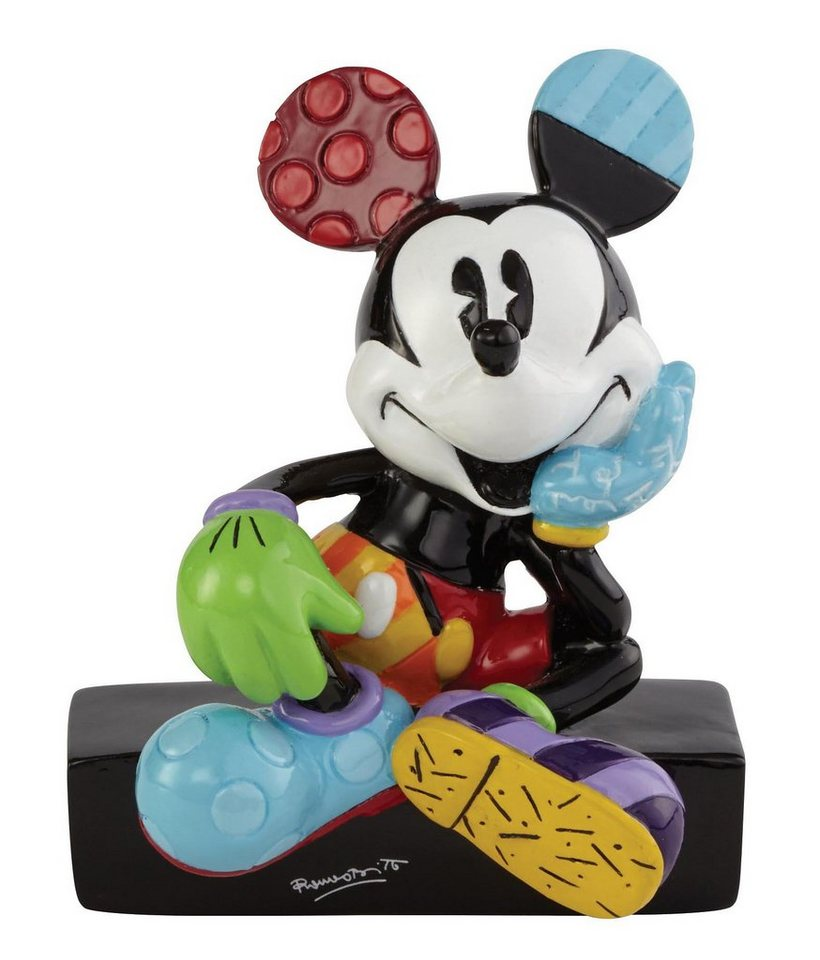 Disney by Britto Figur PopArt sitzend auf Sockel, »Mickey Mouse« in bunt