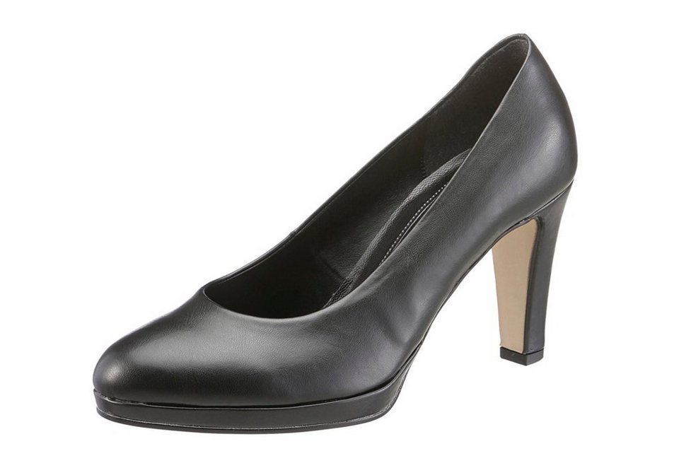 Gabor Plateau-Pumps in schwarz