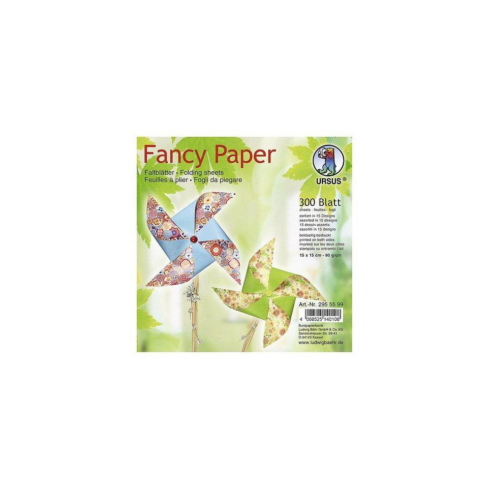 URSUS Faltblätter Fancy Paper, 15 x 15 cm, 300 Blatt