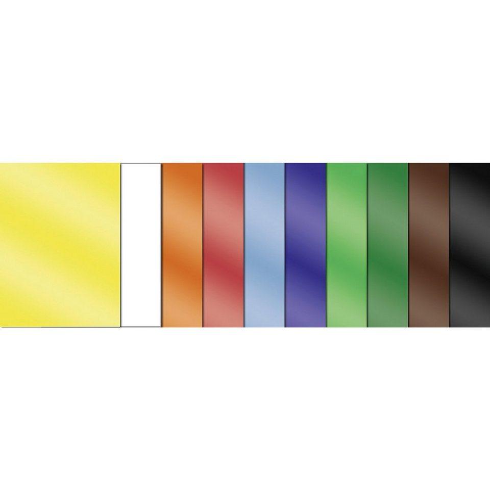 URSUS Glanzpapier, 50 Blatt in 10 Farben