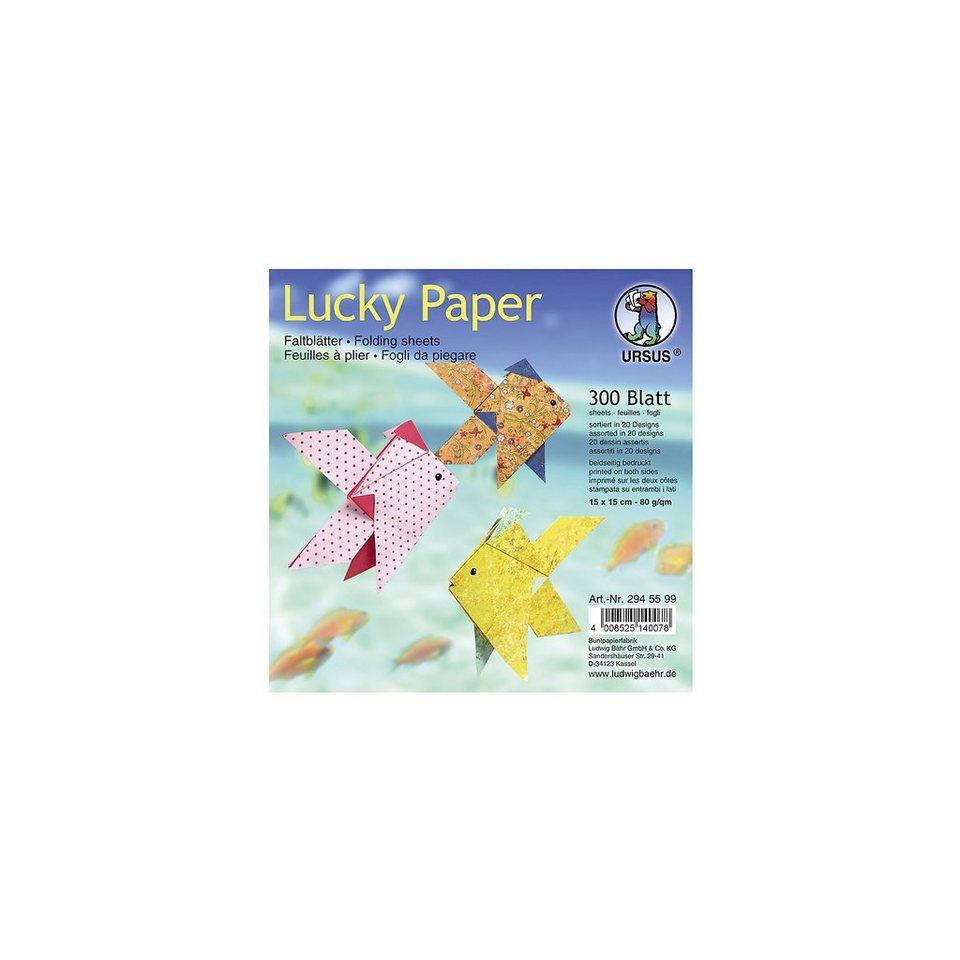 URSUS Faltblätter Lucky Paper, 15 x 15 cm, 300 Blatt