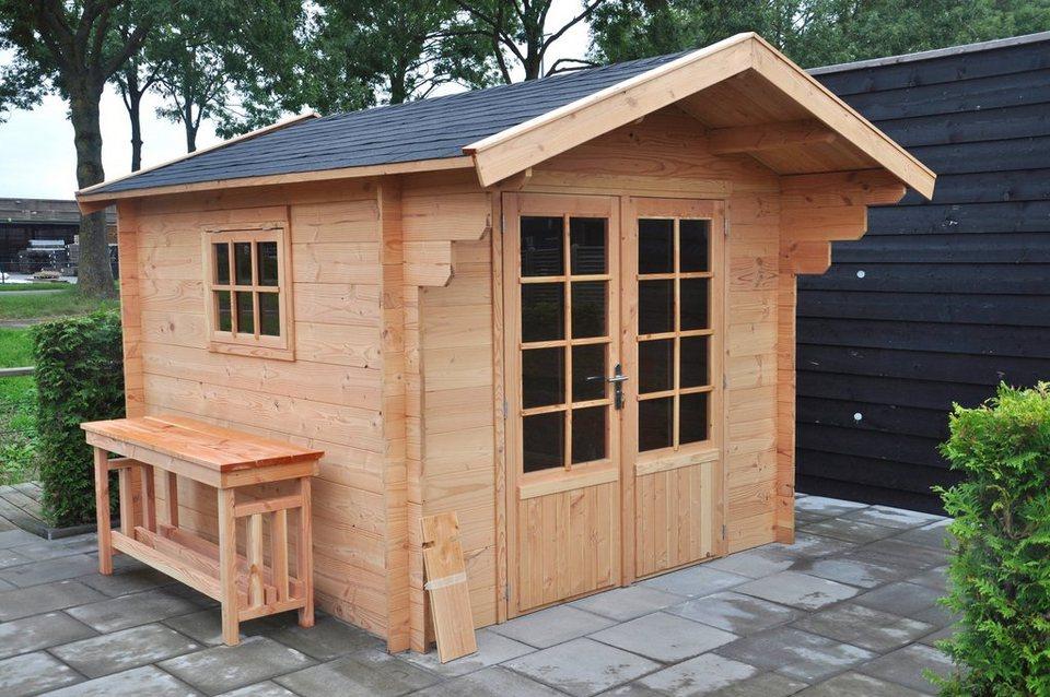 Komplett-Set: Gartenhaus »Douglasie«, BxT: 262x262 cm in natur