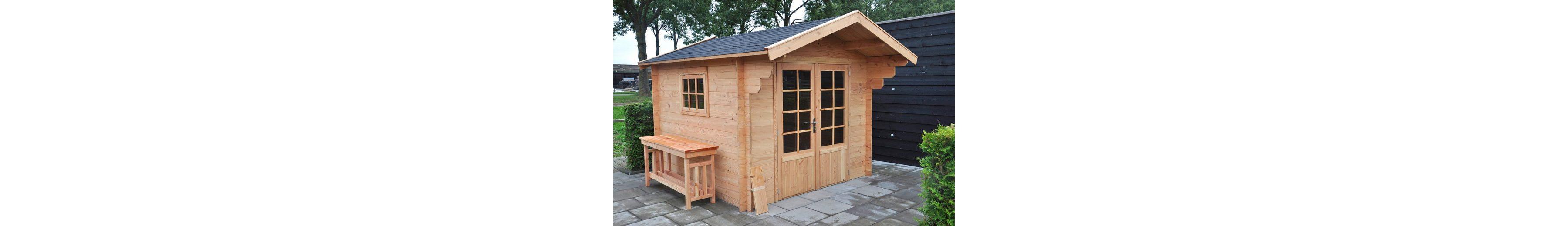 Komplett-Set: Gartenhaus »Douglasie«, BxT: 262x262 cm