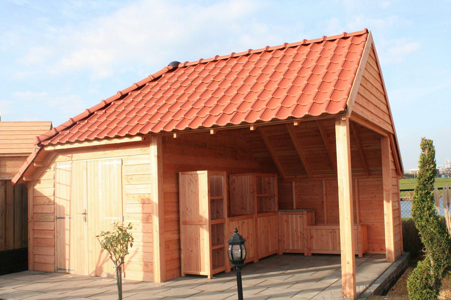 NORDIC HOLZ Gartenhaus »Wolfskap«, BxT: 599x368 cm, 40 mm