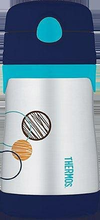 Alfi Thermos Isoliertrinkflasche, »Junior Straw« in blau