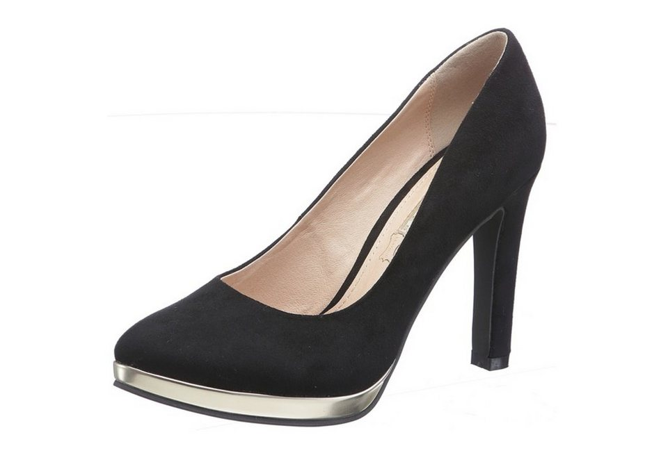 Buffalo High Heel Pumps mit Plateau in schwarz