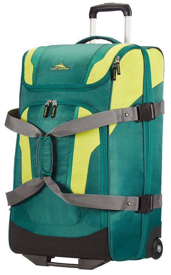 HIGH SIERRA Reisetasche mit Trolleyfunktion und 2 Rollen, »Freel²« in Green Stripes