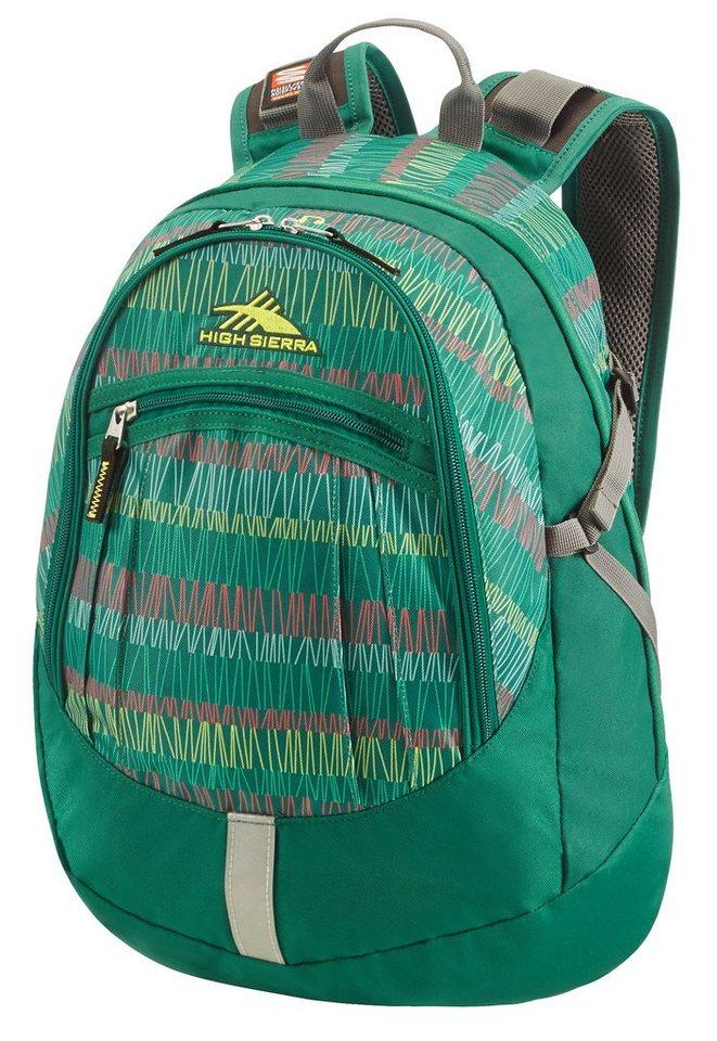 HIGH SIERRA Rucksack mit Suspension Strap System, »OVERTON²« in Green Stripes