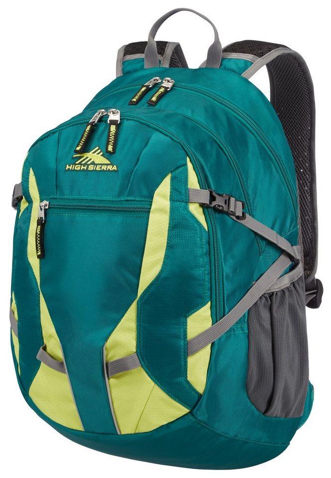 HIGH SIERRA Schulrucksack mit gepolstertem 14-Zoll Laptopfach, »AGGRO²« in Alpine Green