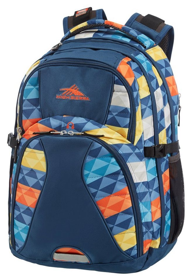 HIGH SIERRA Schulrucksack mit MP3- und Laptopfach, »SWERVE²« in Faceted Stripes