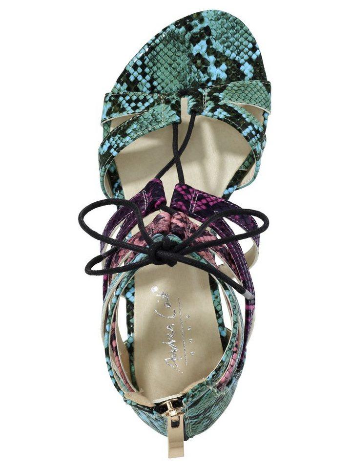 Sandalette in aqua/pink
