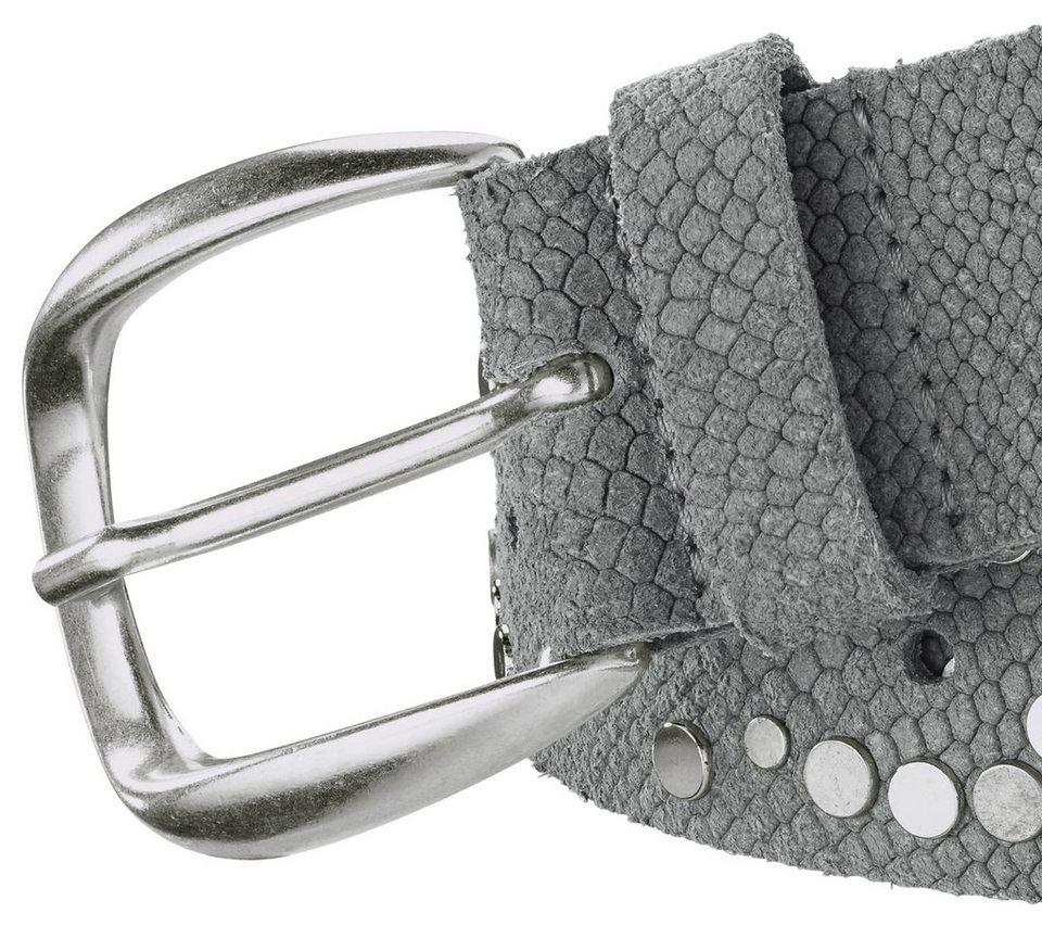 Gürtel in grau/silberfarben