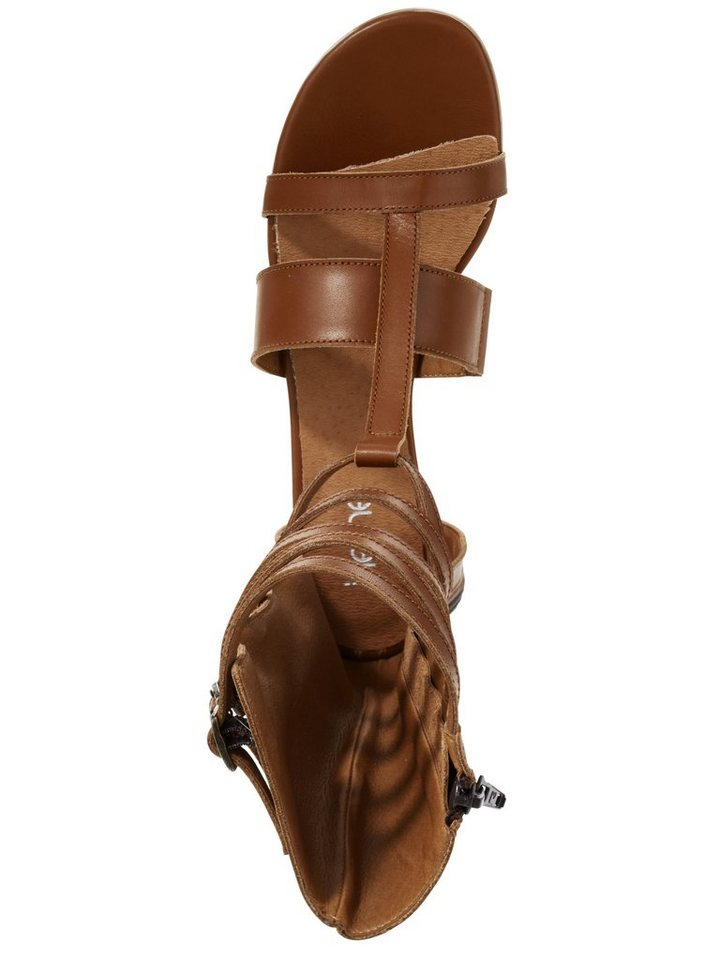 Sandalette in cognac