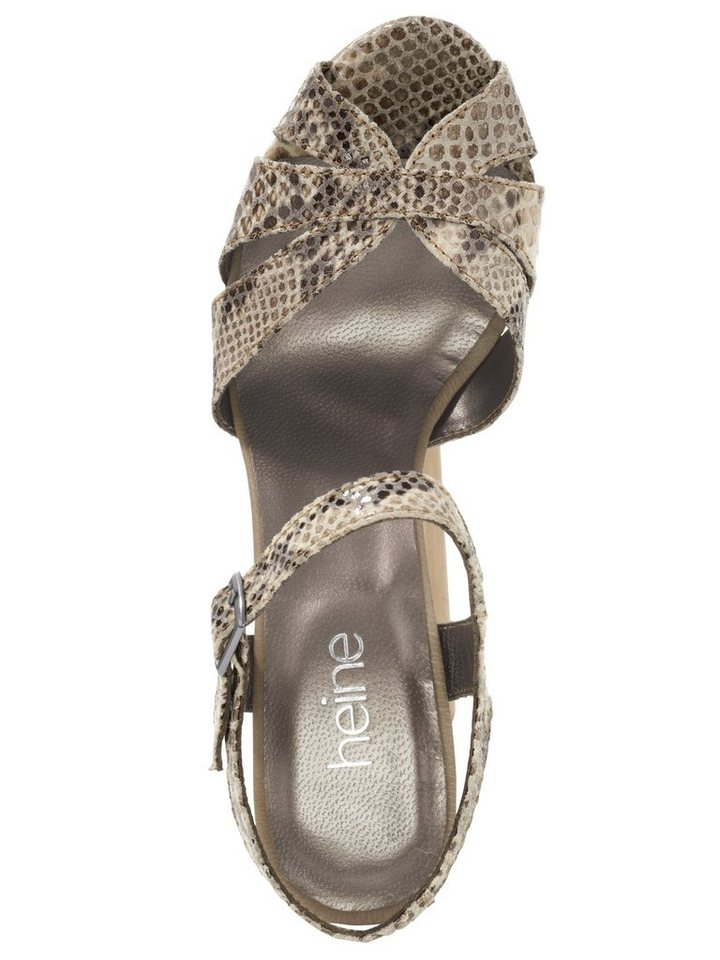Sandalette in taupe/sand
