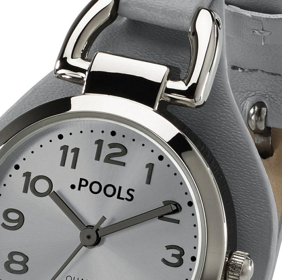 Armbanduhr von POOLS in grau