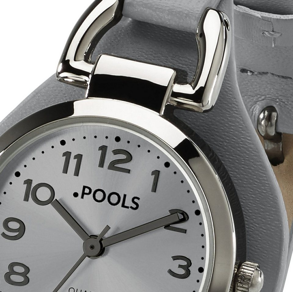 Pools Armbanduhr von POOLS in grau