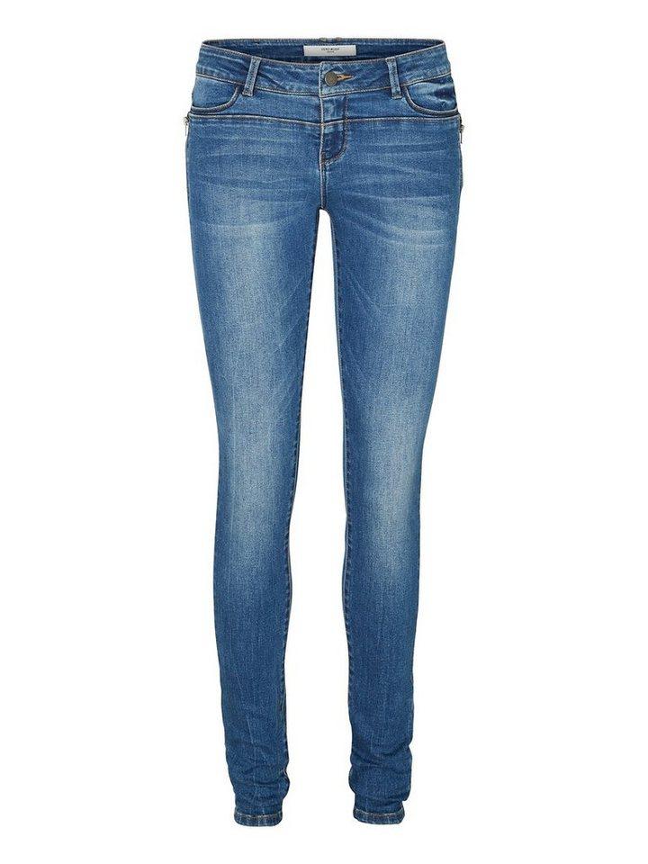Vero Moda Five LW Skinny Fit Jeans in Dark Blue Denim