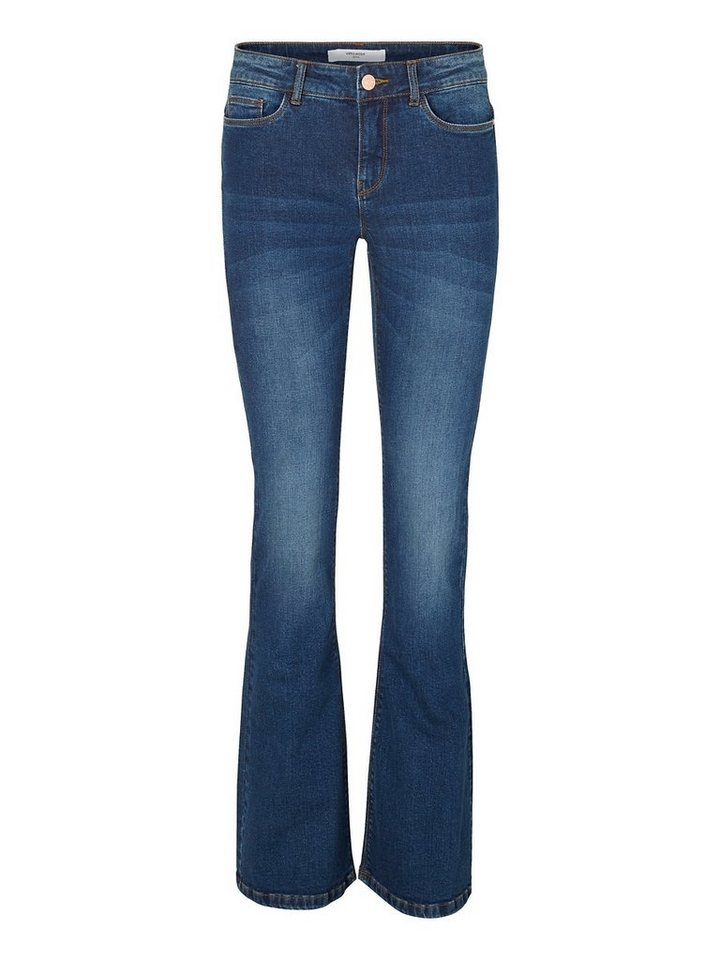 Vero Moda Sally NW Bootcut Jeans in Dark Blue Denim