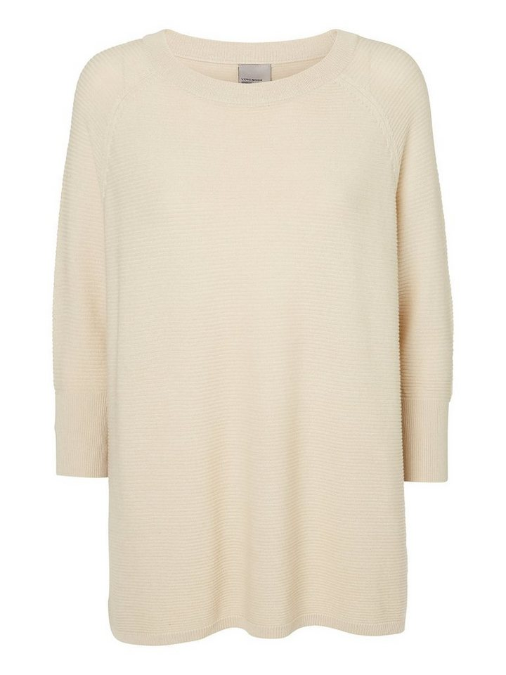 Vero Moda Loose-Fit- Bluse in Oatmeal