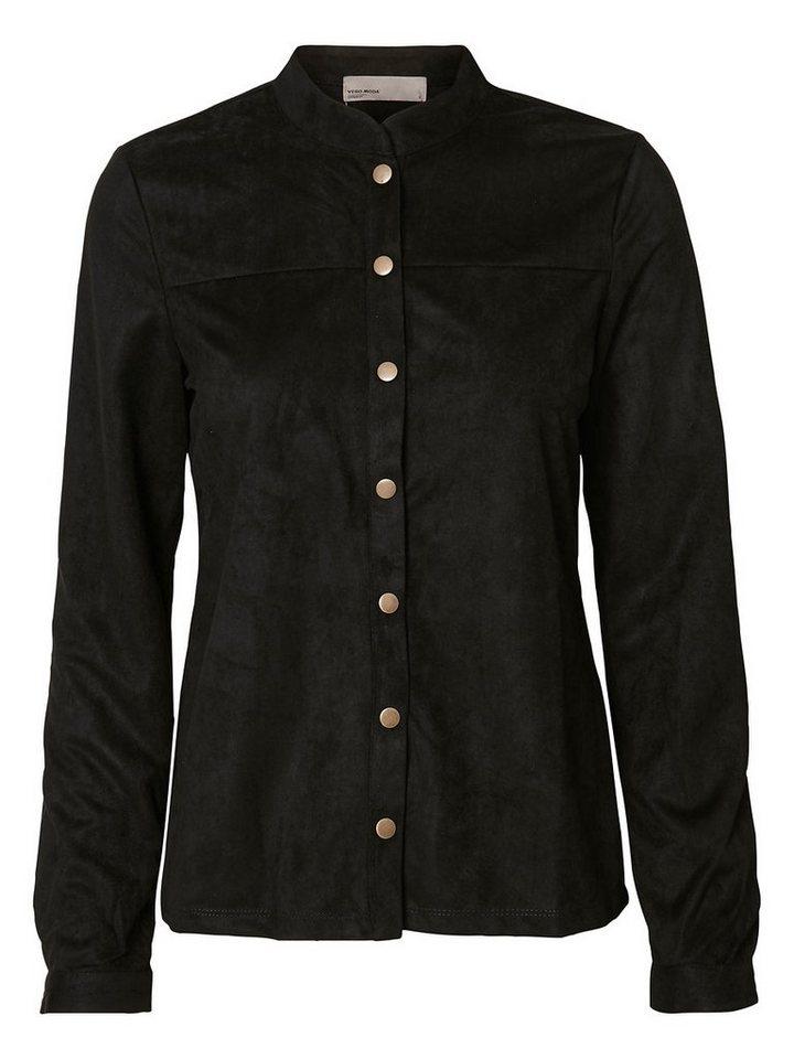 Vero Moda KunstWildleder Hemd in Black