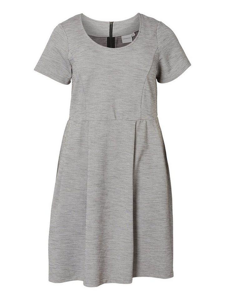JUNAROSE Puffärmel- Kleid in Grey