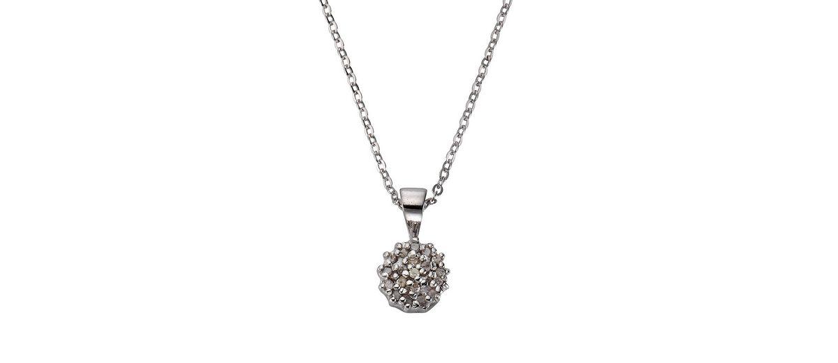 CELESTA Collier »925/- Silber 20x Diamant«
