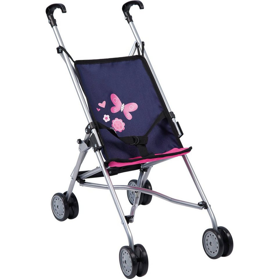 BAYER Puppenwagen Buggy blau/pink