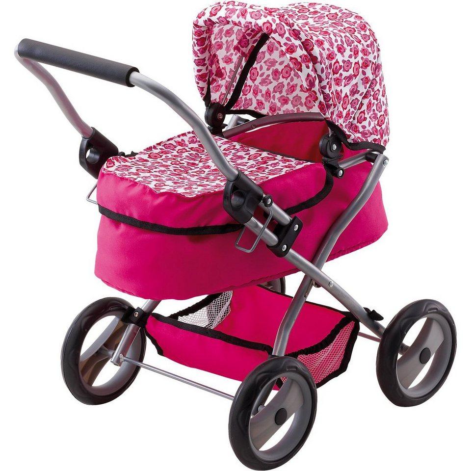 BAYER Puppenwagen Trendy pink gepunktet