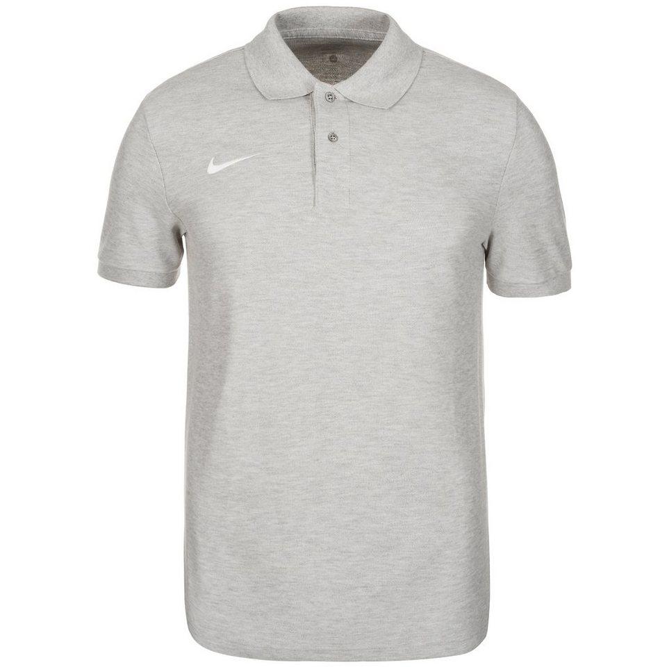 NIKE Core Poloshirt Herren in grau / weiß