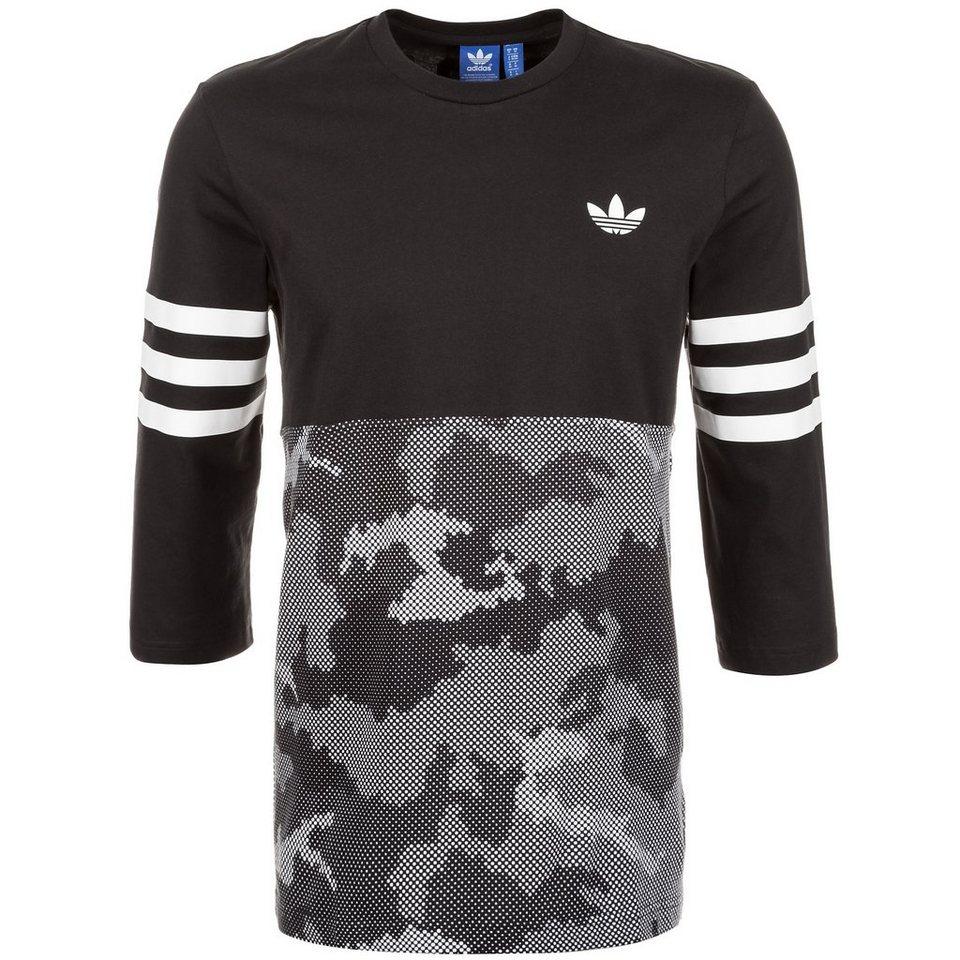 adidas Originals Snow Camo Quarterback Trikot T-Shirt Herren in schwarz / grau / wei