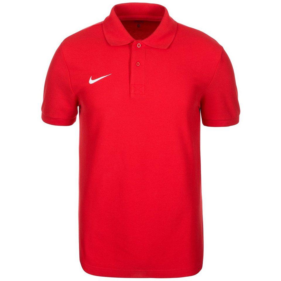 NIKE Core Poloshirt Herren in rot / weiß