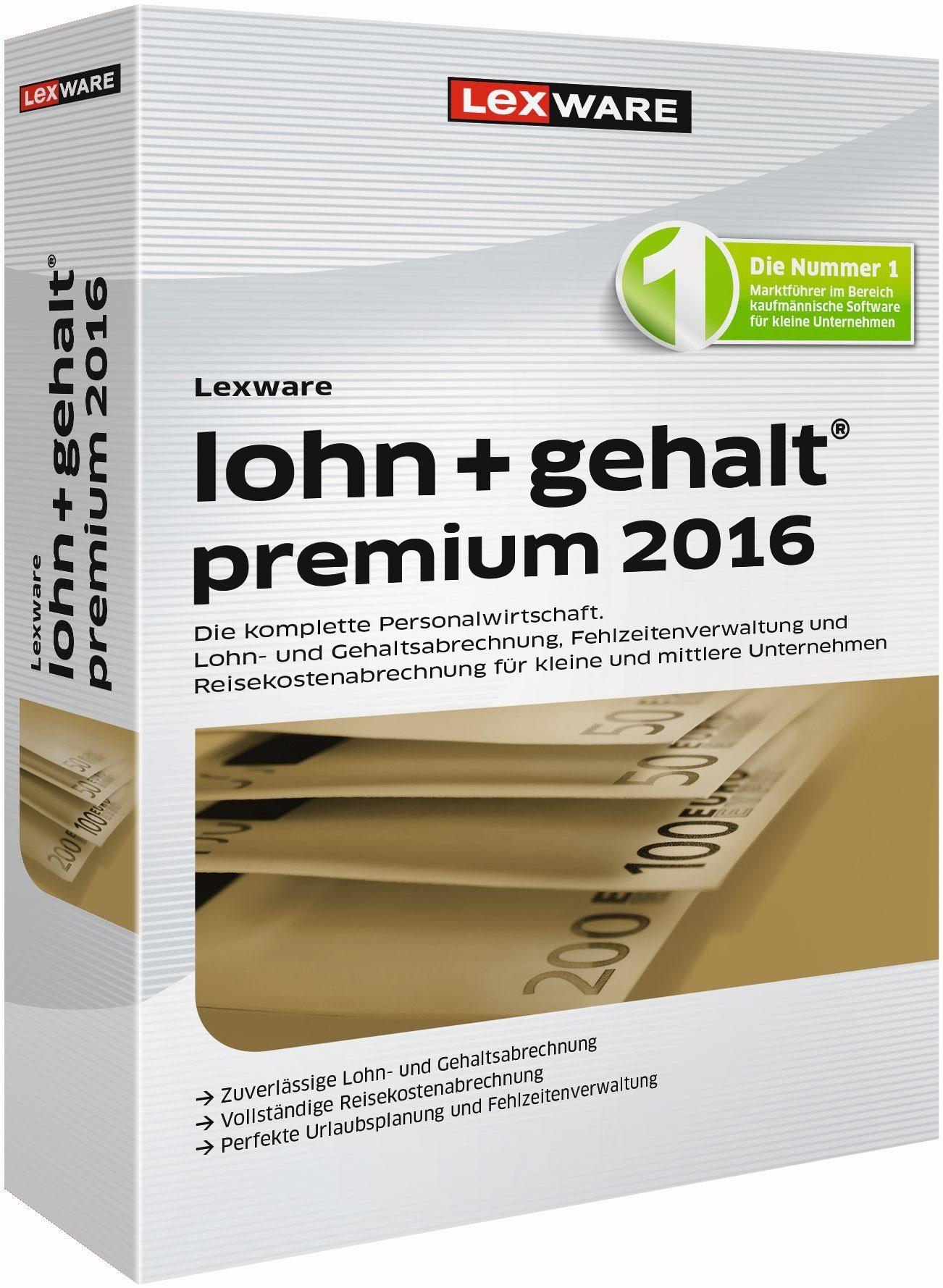 Lexware Lohn & Gehalt »lohn+gehalt premium 2016«