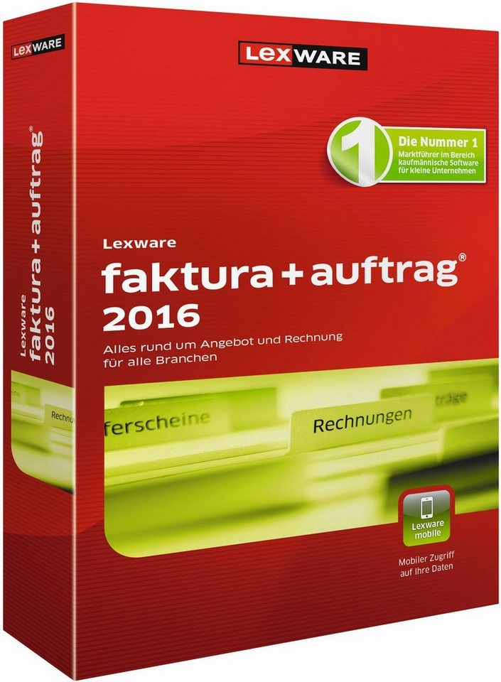 Lexware Kaufmännische Einzellösung »faktura+auftrag 2016«