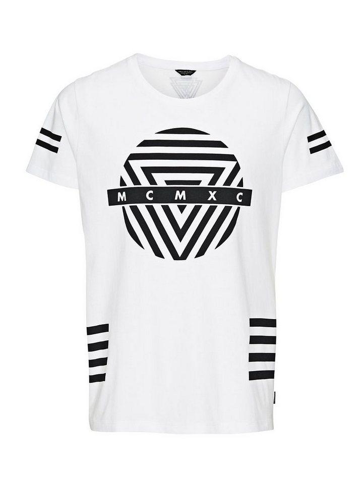 Jack & Jones Oversize Grafik- T-Shirt in White