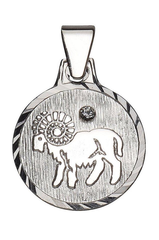 firetti Anhänger mit Kristallstein, »Sternzeichen« in Silber 925