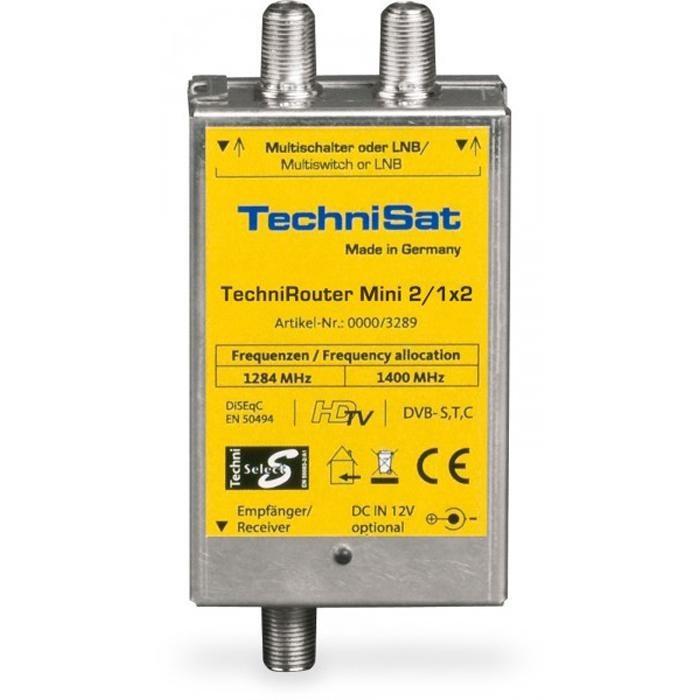 TechniSat Digitale Einkabellösung »TechniRouter Mini 2/1x2« in silber-gelb