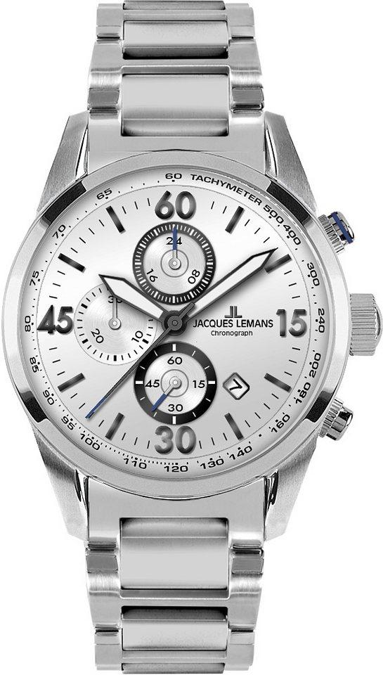 Jacques Lemans Sports Chronograph, Jubiläumsaktion, »40-6E« in silberfarben
