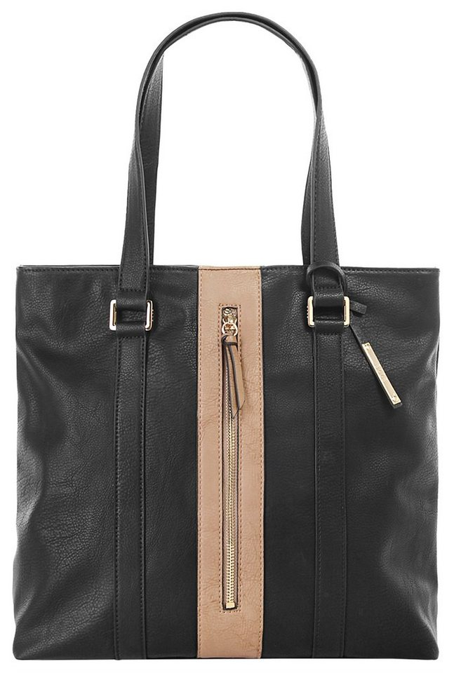 ELLE Damen Shopper »Straight Line« in schwarz