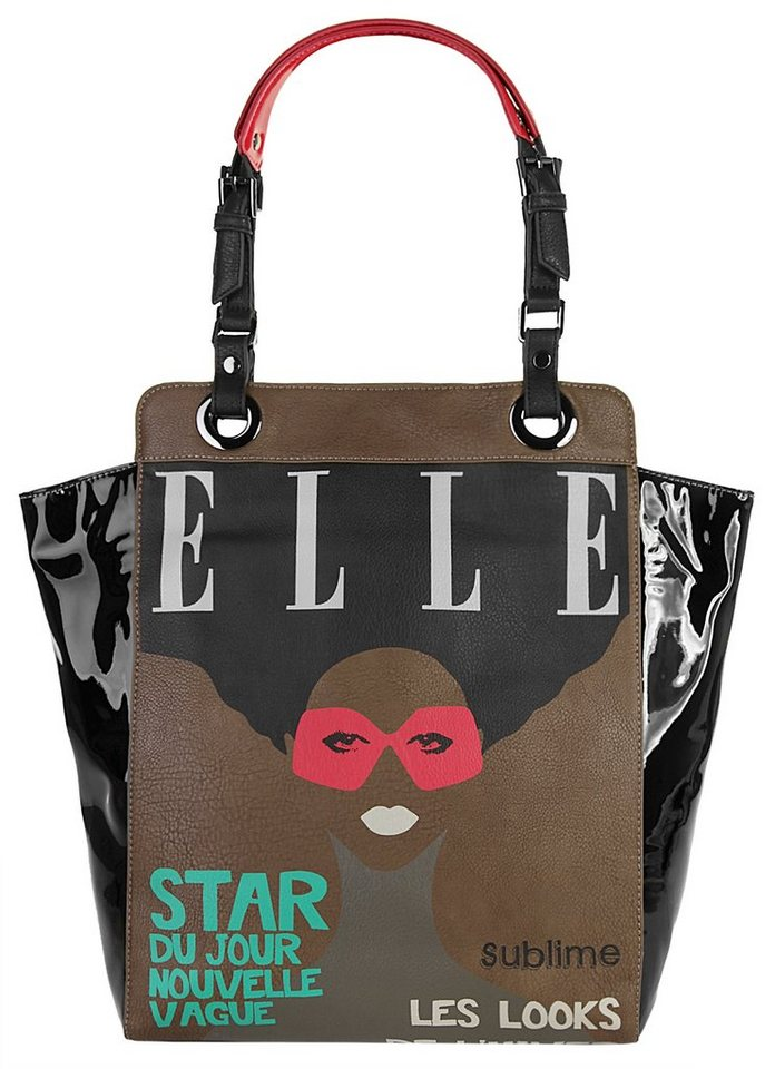 ELLE Damen Shopper in schwarz