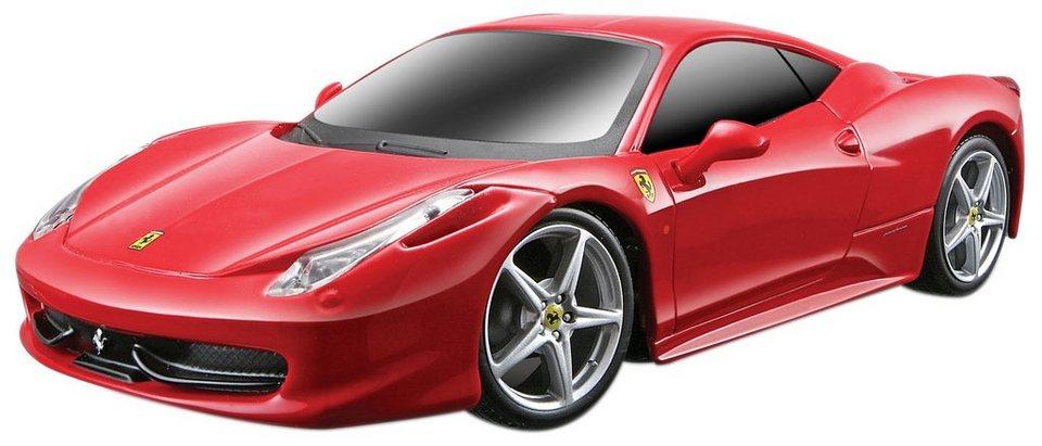 Maisto Tech® RC-Fahrzeug, »Ferrari 458 Italia im originalgetreuen Design« in rot