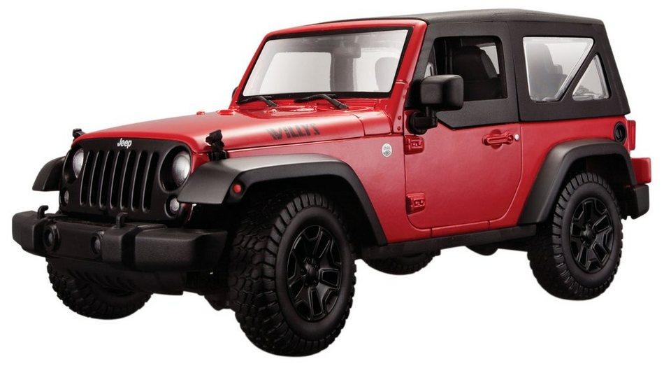 Maisto® Sammlerauto, 1:18, »Jeep Wrangler ´14« in rot
