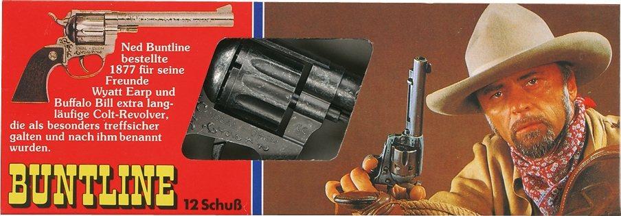 Schrödel Spielzeugpistole, »Buntline« in braun
