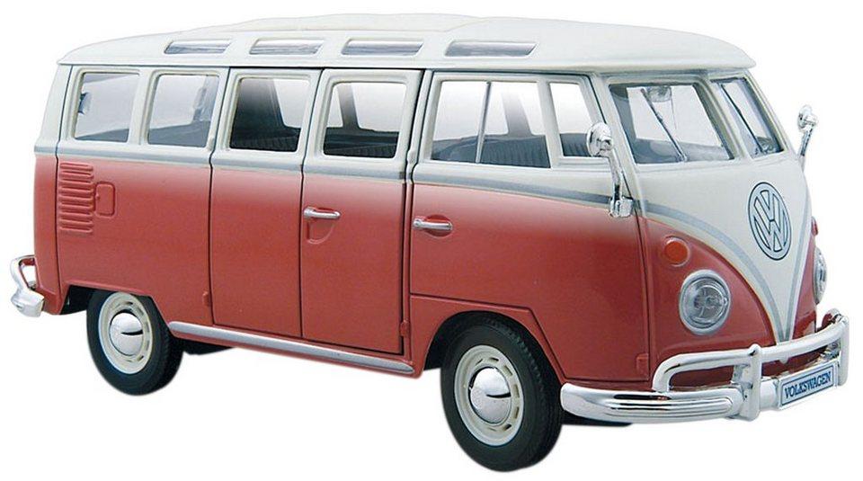 Maisto® Sammlerauto, 1:25, »VW Bus Samba« in rot