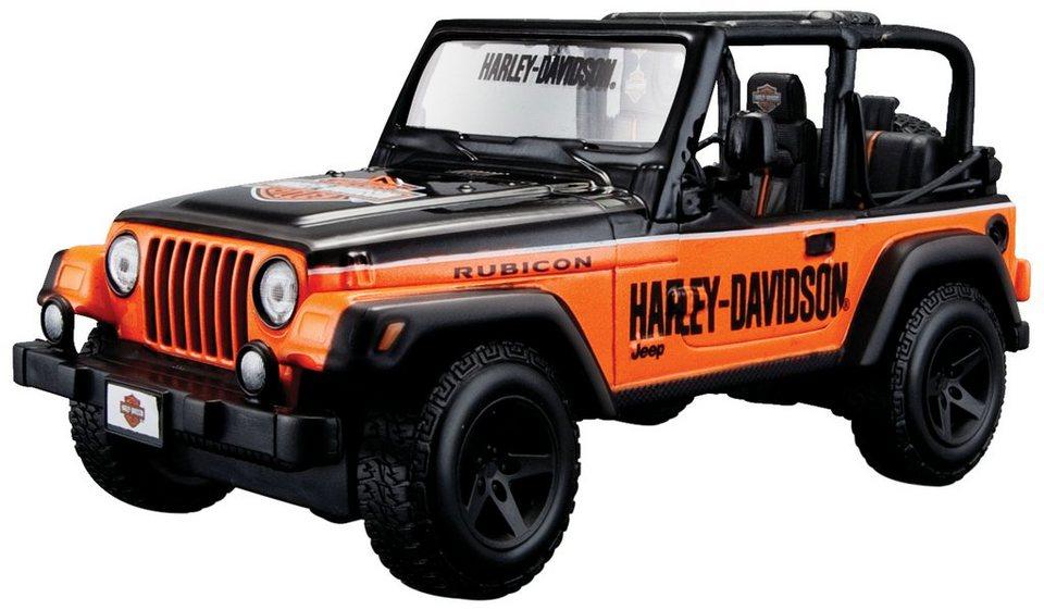 Maisto® Sammlerauto, 1:27, »Jeep Wrangler Rubicon im Harley-Davidson-Design« in schwarz