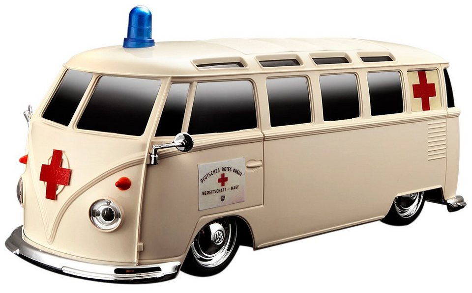 Maisto Tech® RC-Fahrzeug, »VW Bus Samba Ambulance Einsatzfahrzeug« in beige