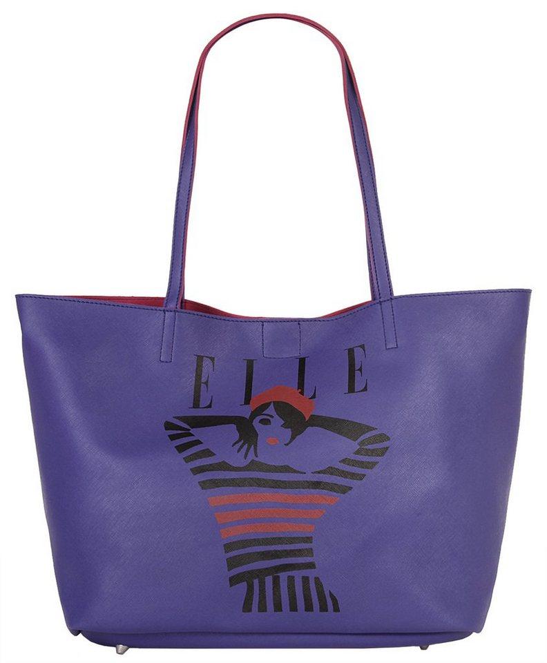 ELLE Damen Shopper »Just Cover« in violett