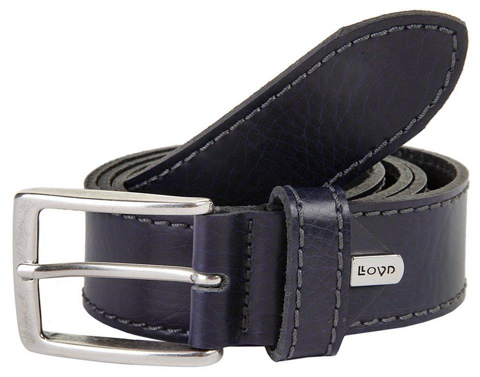 LLOYD Men's Belts Leder Herren Gürtel in blau
