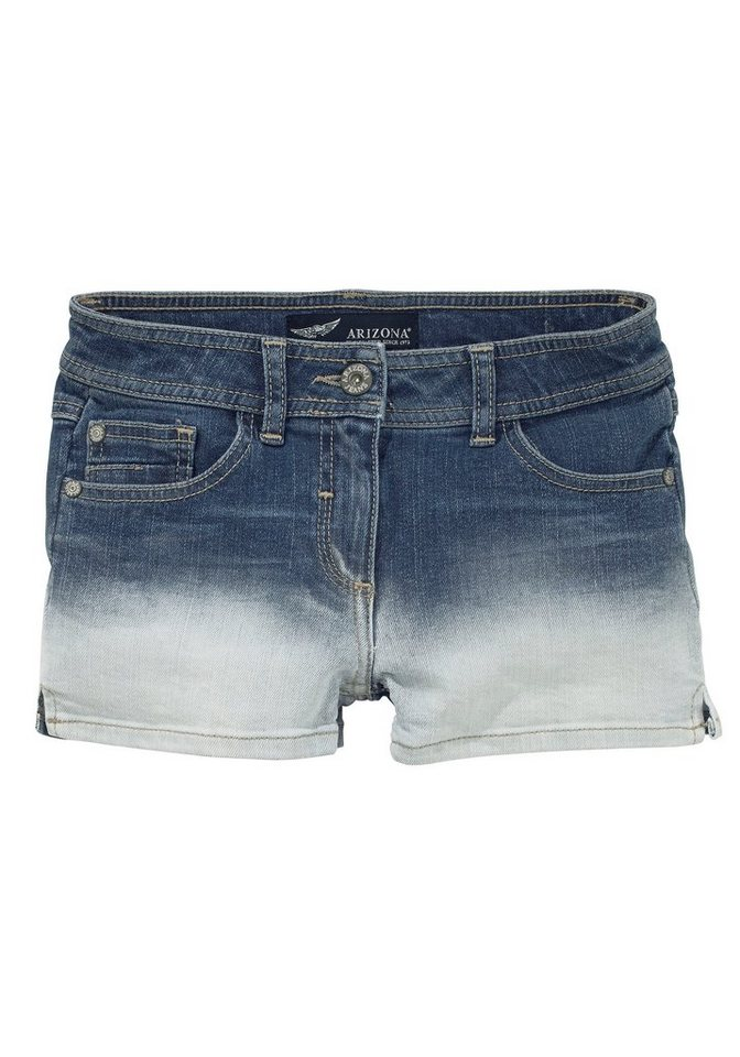 Arizona Jeansshorts mit Farbverlauf in blue-denim