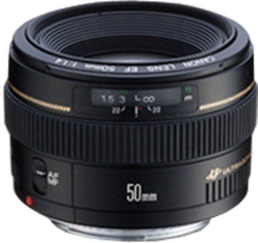 Canon EF 50mm f/1.4 USM Festbrennweite Objektiv in schwarz